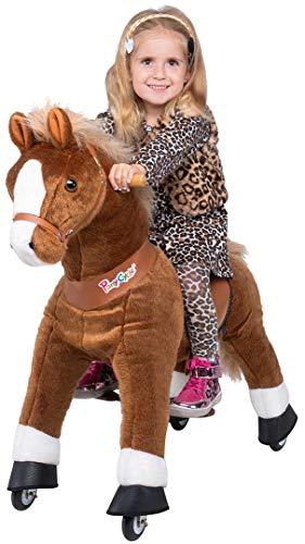 Ponycycle Amadeus - Modell 2020 - U Serie - Schaukelpferd - Kuscheltier auf Rollen - Inline - Kinder - Pony - Pferd - Reiten - Plüschtier - MyPony (Medium)