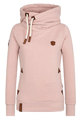 Naketano Damen Kapuzenpullover Darth X Hoodie: Gr. Small, Dusty Pink Melange