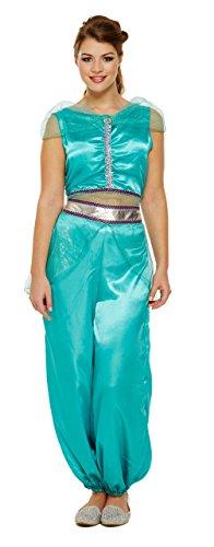 Damen Jasmine Arabische Prinzessin Bauchtänzerin Kostüm Kostüm Outfit 8-12