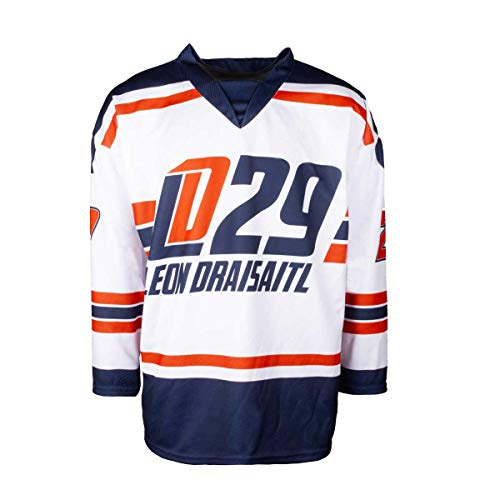 Scallywag® Eishockey Jersey Leon Draisaitl Trikot I Größen S - XXL I A BRAYCE® Collaboration (offizielle LD29 Kollektion vom NHL Edmonton Oilers Star) (L)