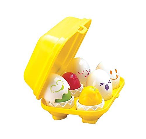 TOMY Toomies T12008 T1581 VPE6 Baby Born TOMY Buntes Kleinkindspielzeug Versteck-und Quieck-Eier, ab 6 Monaten