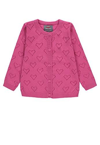 Kanz Baby-Mädchen 1/1 Arm Strickjacke, Violett (Carmine Rose Pink 2290), 92