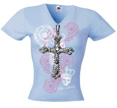 Killer Queen - Cross Clinger Girlie-Shirt