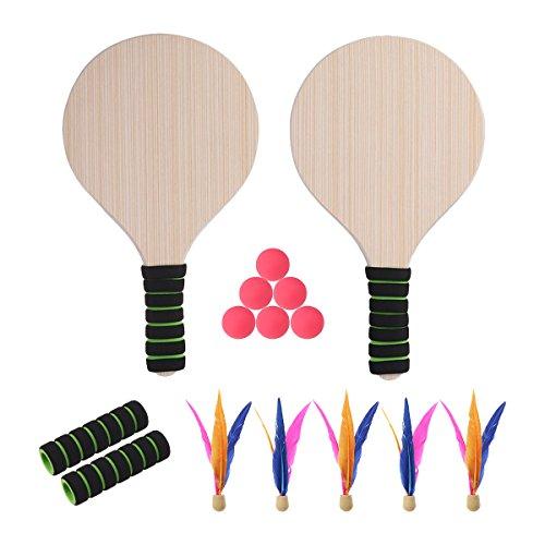 BESPORTBLE Wasserball Sets Paddle Ball Spiel Strand Tennis Pingpong Cricket Badminton Schläger Paddel Set für Kinder Erwachsene Indoor Outdoor