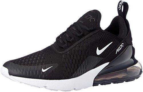 Nike Herren AIR MAX 270 Sneakers, Mehrfarbig (Black/Anthracite/White/Solar Red 002), 45 EU