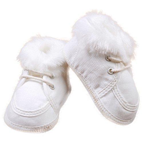 Festliche Babyschuhe Winterschuhe Schnürer creme weiß Cord Taufschuhe Gr. 17 Modell 015/60