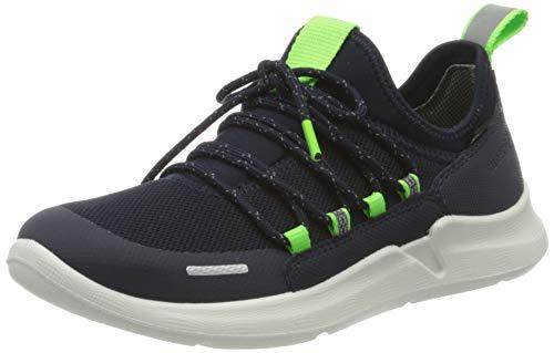 Superfit Jungen THUNDER Sneaker, (Blau/Grün 80), 32 EU