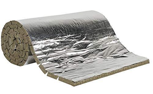 Futurzeta – Isolierung für hohe Temperaturen, schwer entflammbar, Bezug aus Schornstein, Dicke 25 mm, Filz aus Schurwolle und Aluminium
