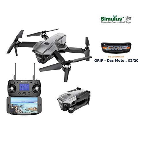 Simulus Drohne: Faltbarer GPS-Quadrocopter mit Brushless-Motor, 4K-Cam, WLAN und App (Drohne GPS)