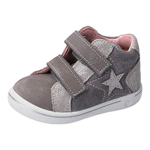 RICOSTA Mädchen Lauflern Schuhe MIA von Pepino, Weite: Mittel (WMS), flexibel Kinder Kids Maedchen Kinderschuhe toben leger,Graphit,23 EU / 6 Child UK