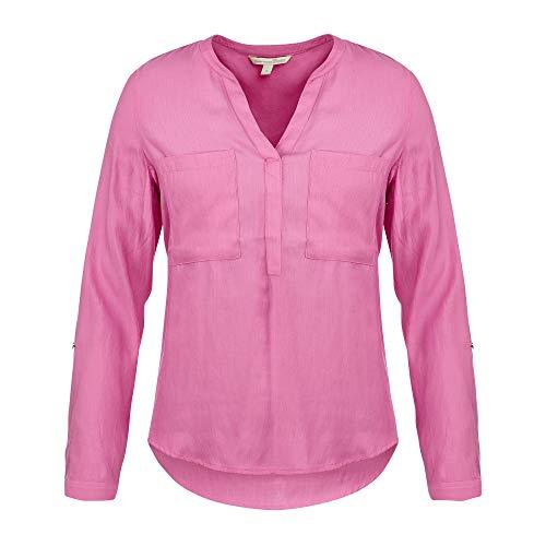 TOM TAILOR Denim Damen Langarmtunika Bluse, 21347-wild Orchid pink, XXL