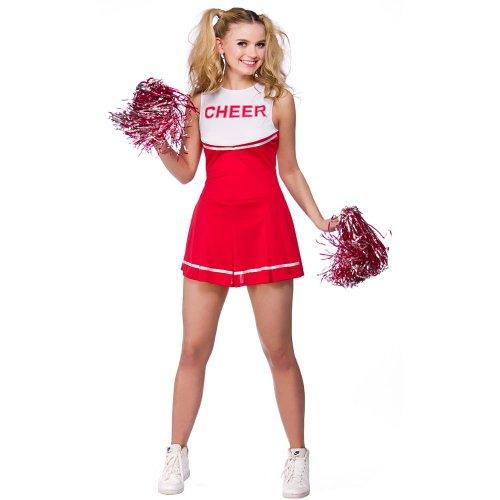 Wicked Costumes High School Cheerleader-Kostüm für Damen, Rot, Größe S