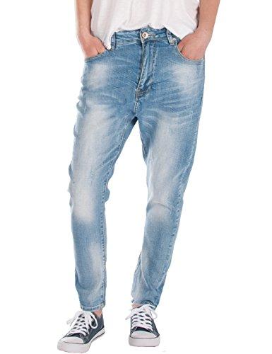 Fraternel Damen Jeans Hose Boyfriend Baggy Used Relaxed fit Hellblau M