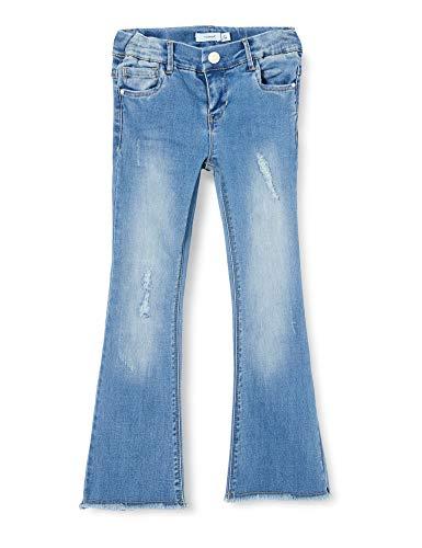 Name IT NOS Girls NKFPOLLY DNMTOFIA1314 BOOT 7/8 PANT NOOS Jeans, Light Blue Denim, 134