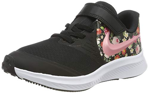 Nike Mädchen Star Runner 2 VF (PSV) Sneaker, Schwarz (Black/Pink Tint-Pale Ivory 001), 29.5 EU
