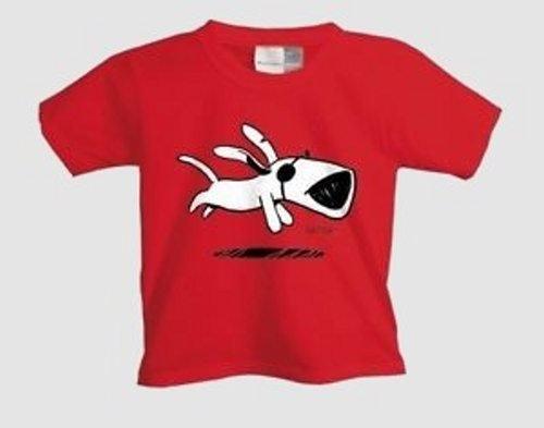 Ich + Ich - Laufender Hund Kinder Shirt rot/red - Gr.: 106-116 (6)
