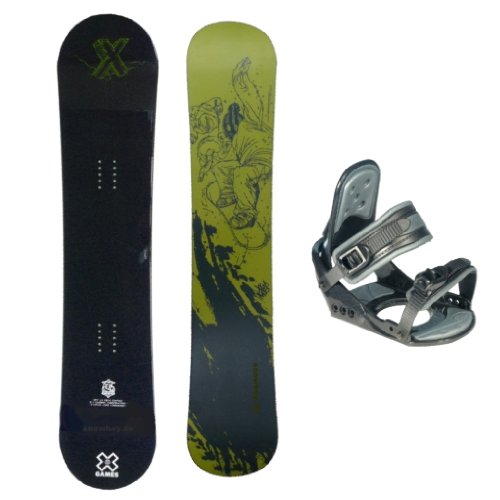 X-GAMES ''Black'' Freestyle Snowboard 149 cm + Bindung Nidus