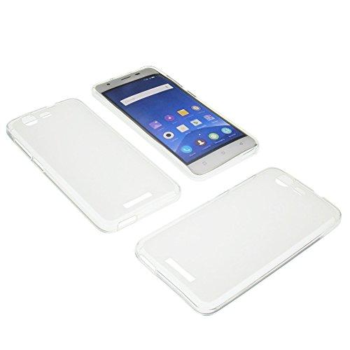 Tasche für Mobistel Cynus F9 Gummi TPU Schutz Handytasche milchig transparent