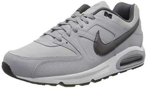 Nike Herren AIR MAX Command Leather Laufschuhe, Grau (Wolf Grey/MTLC Dark Grey/Black/White 012), 41 EU