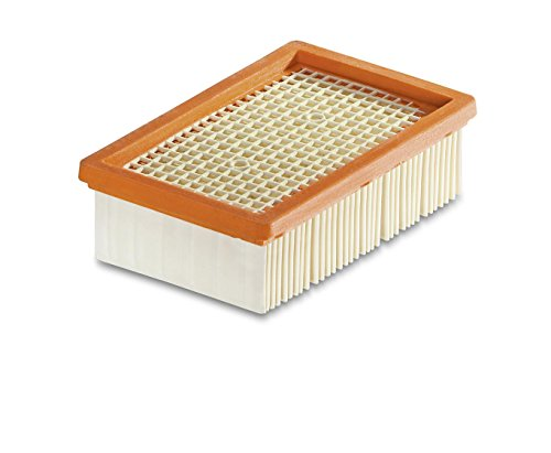 Kärcher Flachfaltenfilter für Kärcher Mehrzwecksauger WD 4 bis WD 6 (schnell und komfortabel austauschbar, ohne Schmutzkontakt, ermöglicht Nass- und Trockensaugen ohne Filterwechsel)