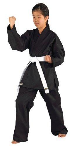 Kwon Kinder Kampfsportanzug Karatea Shadow, schwarz, 140 cm, 551101140