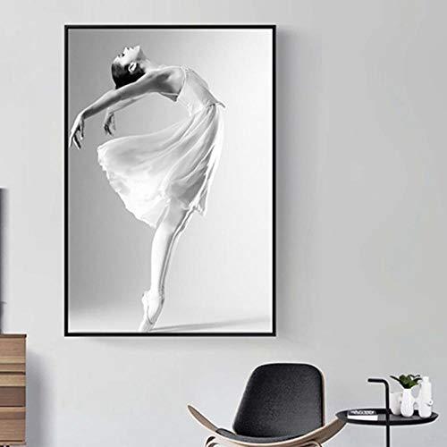 SDPYY Moderne Ballettplakate Wandkunst Leinwandbilder Tanzen Bilder Drucke Mädchen Geschenke Living Home Decor-50x70cmx1 STK. Kein Rahmen