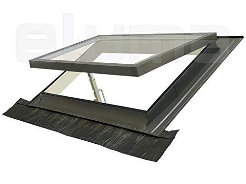 Ausstiegsfenster - modell CLASSIC VASISTAS/Dachfenster + Eindeckrahmen/Oberlicht/Öffnung Art Velux/Doppelglas (55x45 Breite x Höhe)