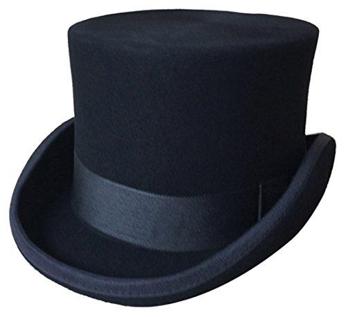 GEMVIE Zylinder Hoher Hut Magic Partyhüte Erwachsenenhut Hut Mütze für Damen und Herren Kopf 56-58cm