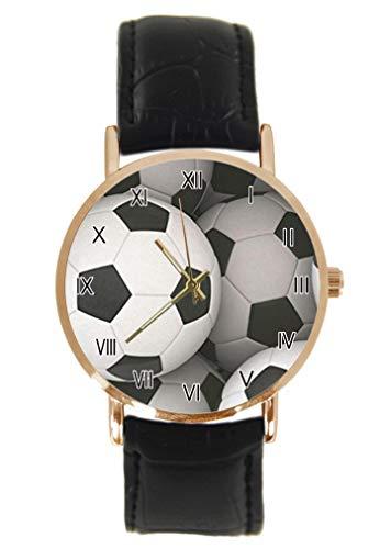 Funny Green Tennis Court Armbanduhr Fashion Classic Unisex Analog Quarz Edelstahl Gehäuse Leder Armband Uhren