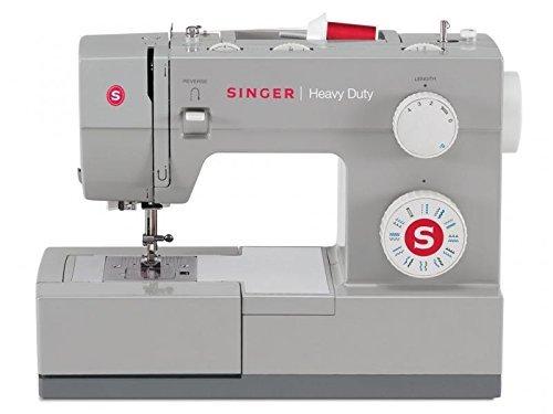 Singer Heavy Duty 4423, Elektrische Nähmaschine mit 23 integrierte Stiche -- Freiarm   Profi Haushaltsnähmaschine für dicke Stoffe   Nutzstich-Nähmaschine zum Nähen von Leder und Jeans mit Zubehör