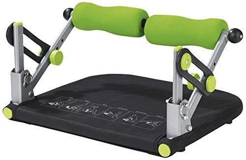VITALmaxx Fitnesstrainer Basic 5 in 1   Trainiert Bauch, Rücken, Beine & Arme   Allround Fitness Gerät und platzsparend verstaubar   [Schwarz-Grün]