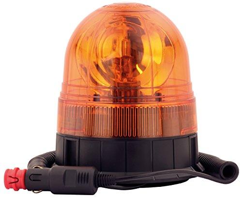 AdLuminis Halogen Rundumleuchte Orange Mit Magnetfuß, Blinkleuchte 12V 24V, ECE R65 Straßenverkehr Zulassung, KFZ Auto Warnleuchte