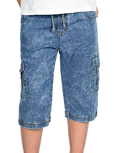 BEZLIT Kinder Kurze-Hose Jungen Jeans Cargo-Shorts Capri-Hose Bermuda-Shorts Gummibund 30056 Hellblau 128