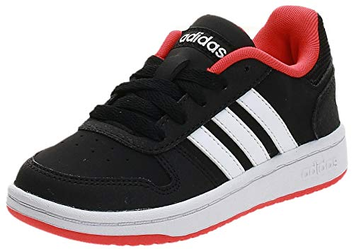 adidas Unisex-Kinder Hoops 2.0 Fitnessschuhe, Schwarz (Negbás/Ftwbla/Roalre 000), 30.5 EU