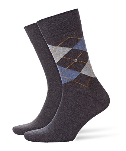 BURLINGTON Herren Socken Everyday - 80% Baumwolle, 2 Paar, versch. Farben, Größe 40-46 - Weicher Baumwollstrumpf im Doppelpack in klassischen Farben