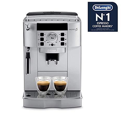 De'Longhi Magnifica ECAM 22.110.SB – Kaffeevollautomat mit Milchaufschäumdüse, Digitaldisplay mit Klartext, 2-Tassen-Funktion, großr 1,8 l Wassertank, 35,4 x 23,8 x 43 cm, silber