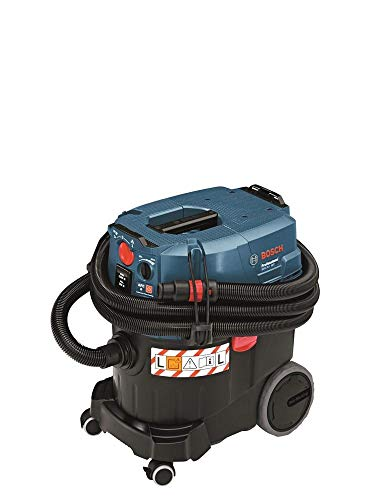 Bosch Professional Nass-/Trockensauger GAS 35 L AFC (inkl. 1x Zellulose-Flachfaltenflter, Fugendüse, Entsorgungssack, Krümmer, Bodendüsen-Set, 3x 0,35 m Saugrohr, Schlauch 5 m, Ø 35 mm)