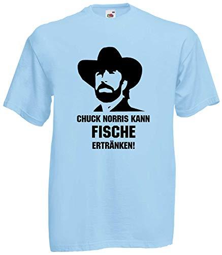Chuck Norris KANN Fische ERTRÄNKEN T-Shirt