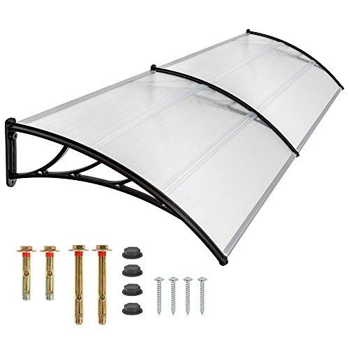 TecTake Vordach Haustür Überdachung Haustürvordach Pultvordach - diverse Größen - (200x93cm | Nr. 401266)