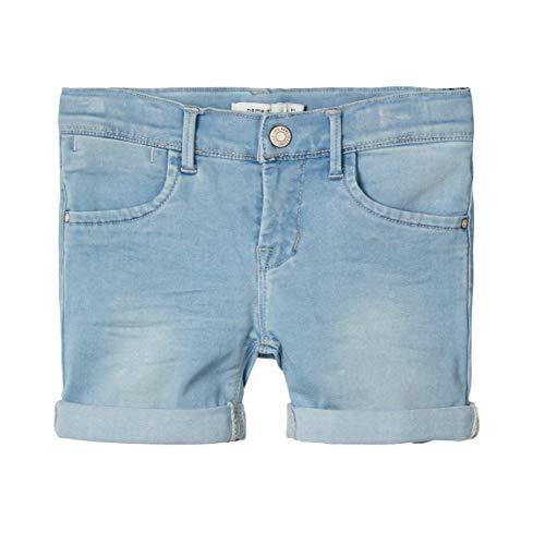 NAME IT Mädchen NKFSALLI DNMTIA 1319 NOOS Shorts, Light Blue Denim, 140