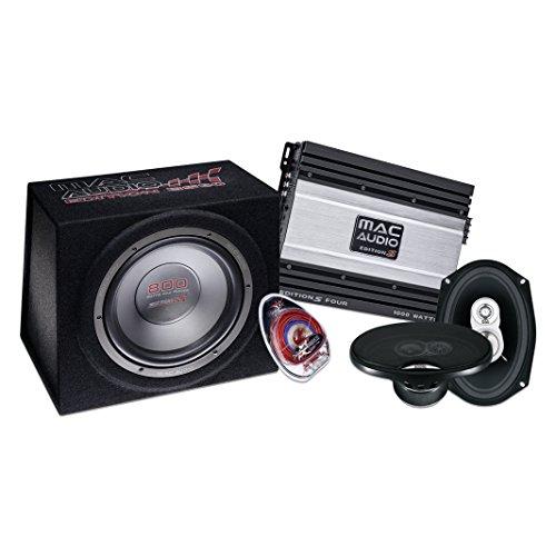 Mac Audio Edition-Set 4693 Ultra Verstärker mit Kabelset (1 Paar, 1x Edition B30, 1x Edition S Four, 1x Connect 10) schwarz