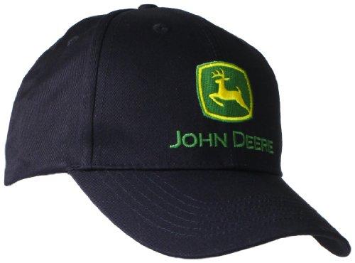 John Deere NCAA Herren-Baseballkappe mit Logo - Schwarz - Einheitsgröße