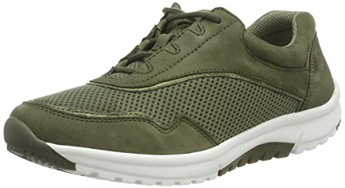 Gabor Shoes Damen Rollingsoft Sneaker, Grün (Salvia/Military 30), 37 EU