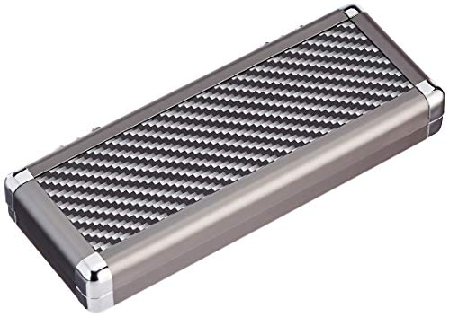 BULL'S Erwachsene Dartsafe XXL Aluminium Case, Silver/Black