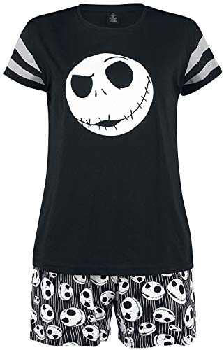 The Nightmare Before Christmas Jack Skellington Frauen Schlafanzug schwarz 3XL