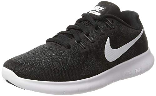 Nike Damen Free Running Laufschuhe, Schwarz (Black/White/Dark Grey/Anthracite 001), 37.5 EU
