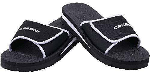 Cressi Unisex– Erwachsene Shoes Panarea Slipper für Strand und Schwimmbad, Schwarz, 45 EU