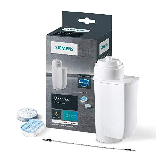Siemens Pflegeset TZ80004A, optimale Reinigung, gründliche Entkalkung, für Kaffeevollautomaten der EQ.Serie