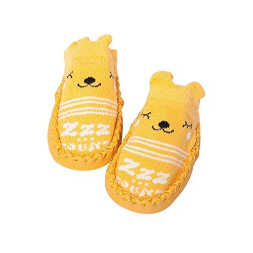 DEBAIJIA Baby Schuhe Baumwolltuch Material Kleinkind Schuhe Anti-Rutsch Tiere Muster Mode Lässig Prewalker Schuhe Säuglings Sportliche Trainer Unisex Wildleder Leder Slip-On-Verschluss
