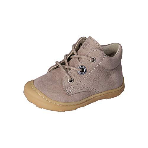 RICOSTA Unisex - Kinder Lauflern Schuhe Cory von Pepino, Weite: Mittel (WMS),terracare, Freizeit leger schnürschuh flexibel,kies,23 EU / 6 Child UK